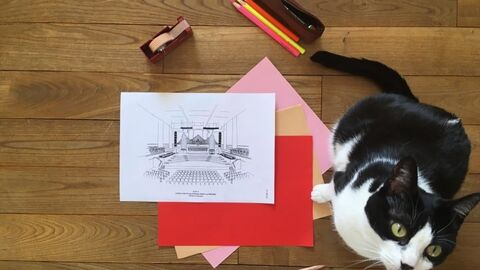 A colouring page of Flagey, both for young and old!