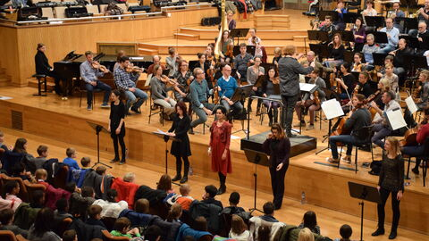 Interactief concert voor de scholen
