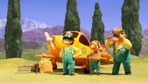 De hulpbrigade op weg naar avontuur !
